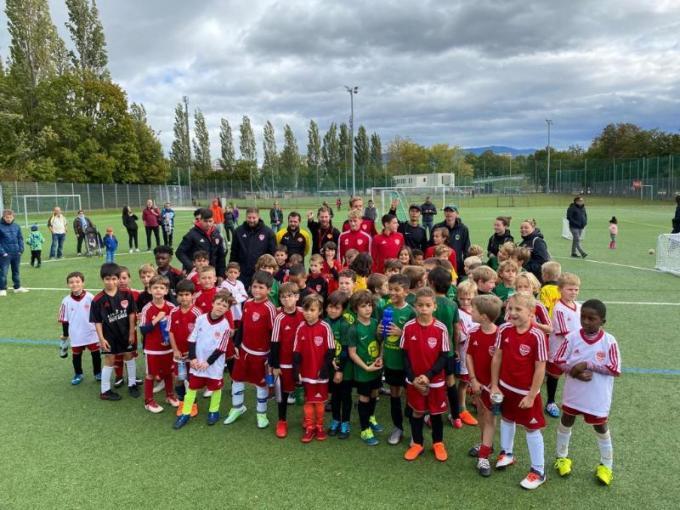 Plateau de football du 4 octobre 2020 à Chênois avec l'école et le jardin de foot