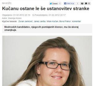 Ksenija Koren Slovenske novice Kučan