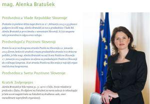 Alenka Bratušek Predsedujoča PS