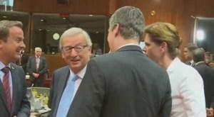 Juncker Bratušek poljub 3