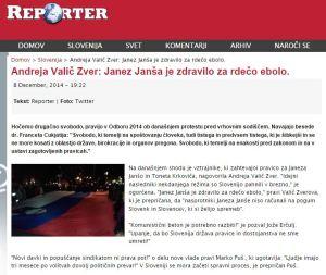 Janša rdeča ebola Reporter