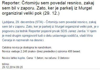 Parkelj Murgle Janša STA
