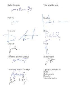 Zaveze novinarji podpisi