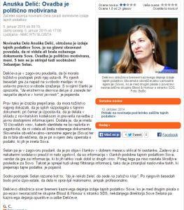 Anuška Delić sojenje MMC politična