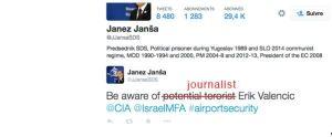 RSF Janša tvit