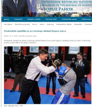 Pahor uradna stran Zavec