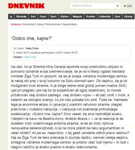 Troha Dnevnik SMC ime