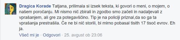 Dragica Korade goljuf ledvica FB