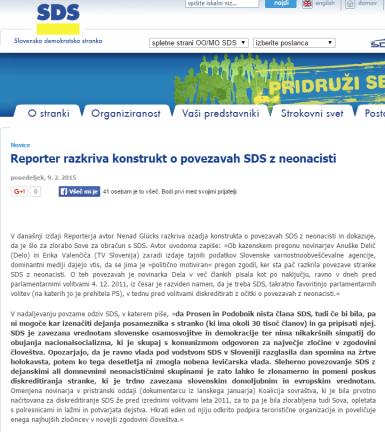 Reporter SDS nacisti