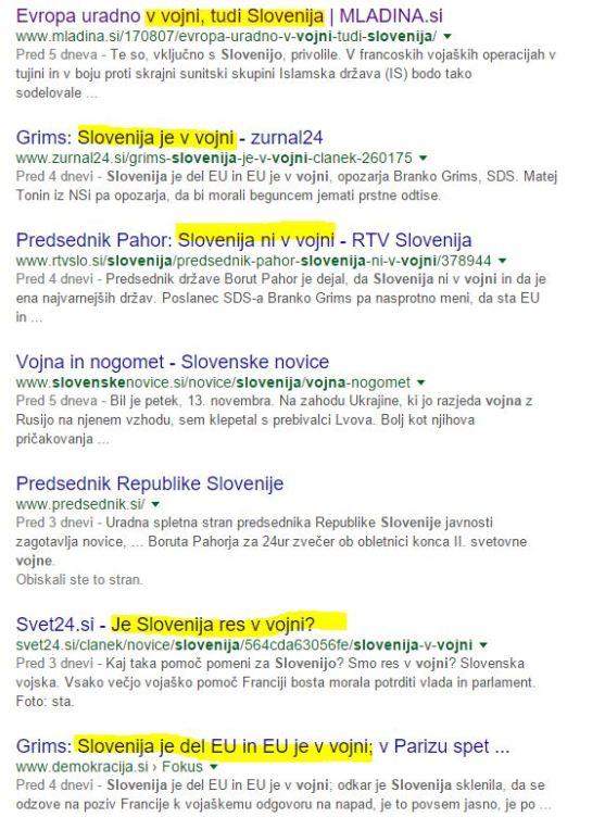Slovenija v vojni google zadetki