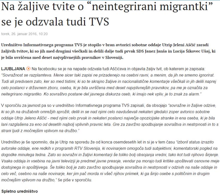 Primorske neintegrirana migrantka