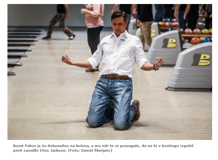 Pahor na kolenih