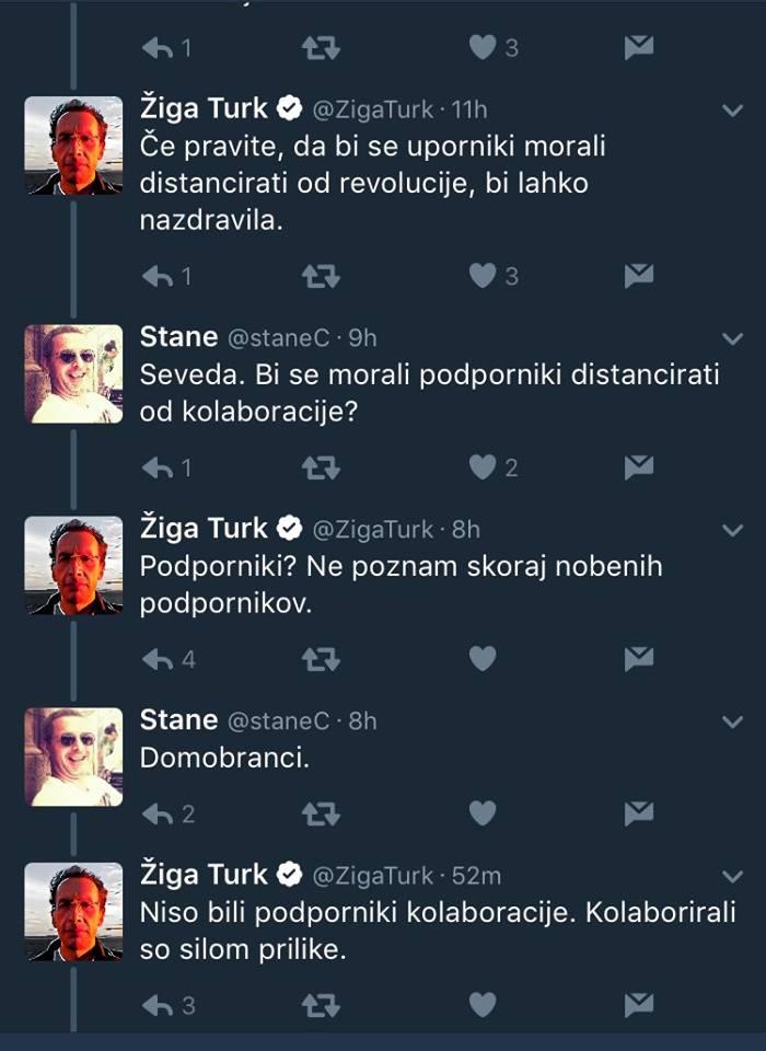 Žiga Turk kolaboracija tvit