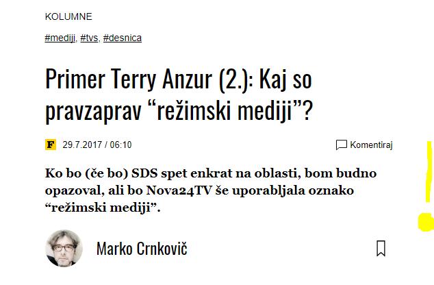 Crnkovič režimski mediji