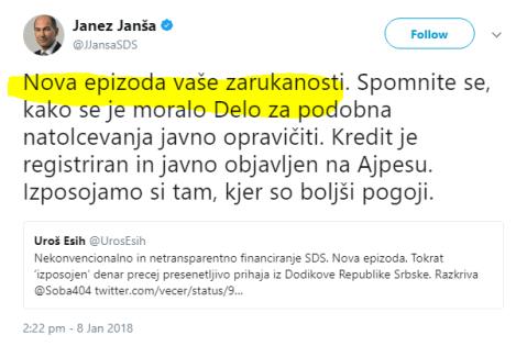 Janša Dijana zarukanost