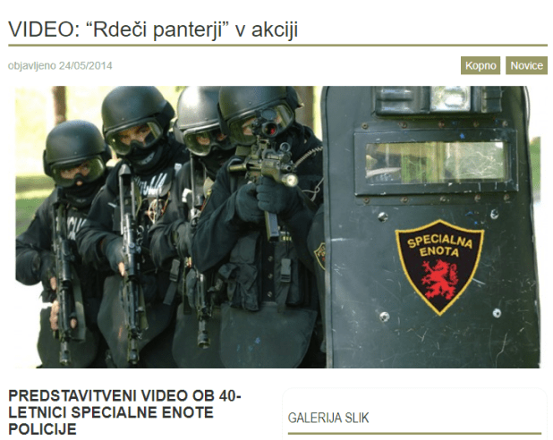 Specialna enota policije rdeči panterji