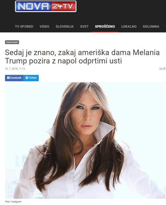 Melanija ustnice