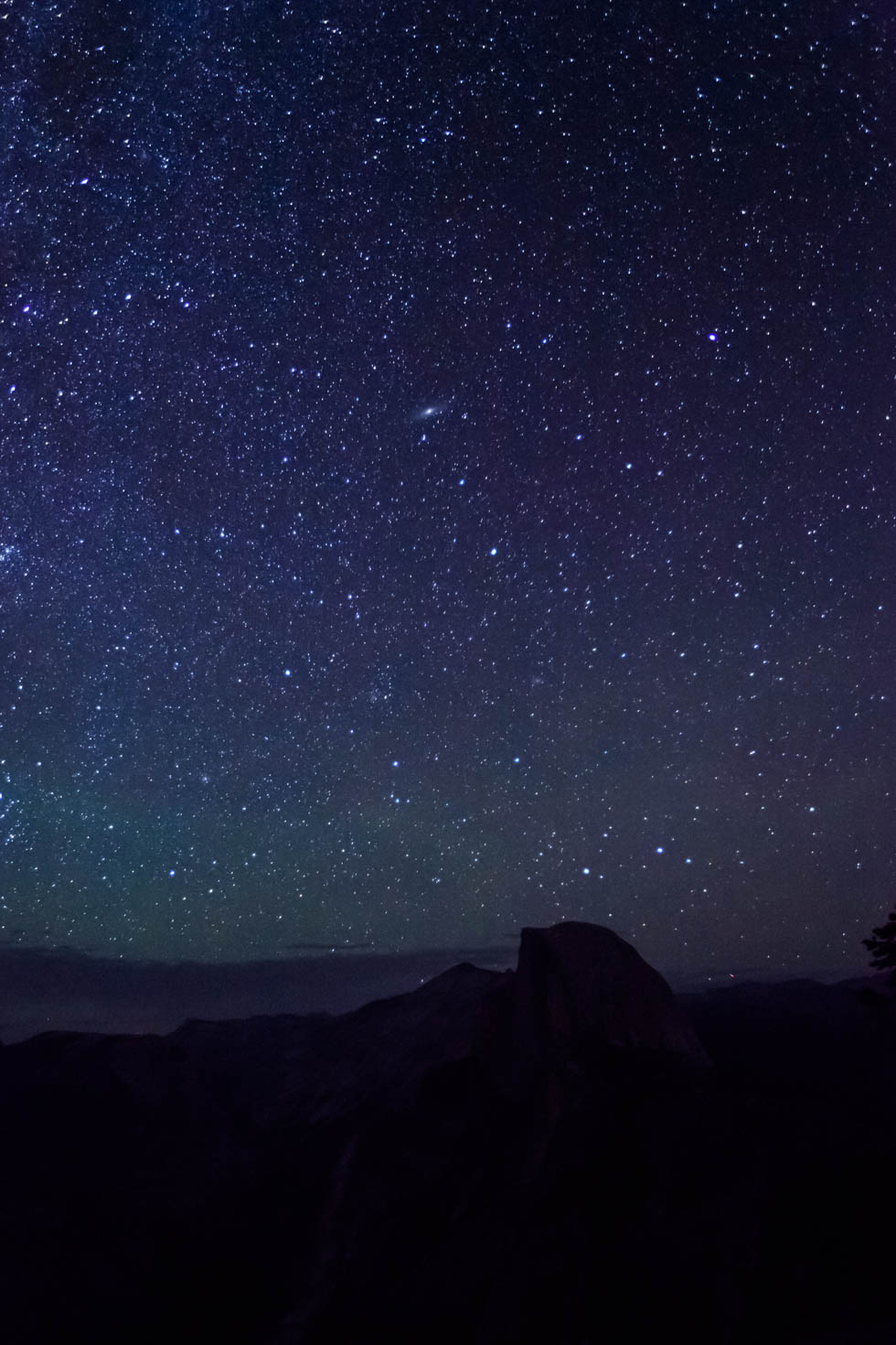 Half Dome, Night Sky, Glacier Point, Yosemite National Park