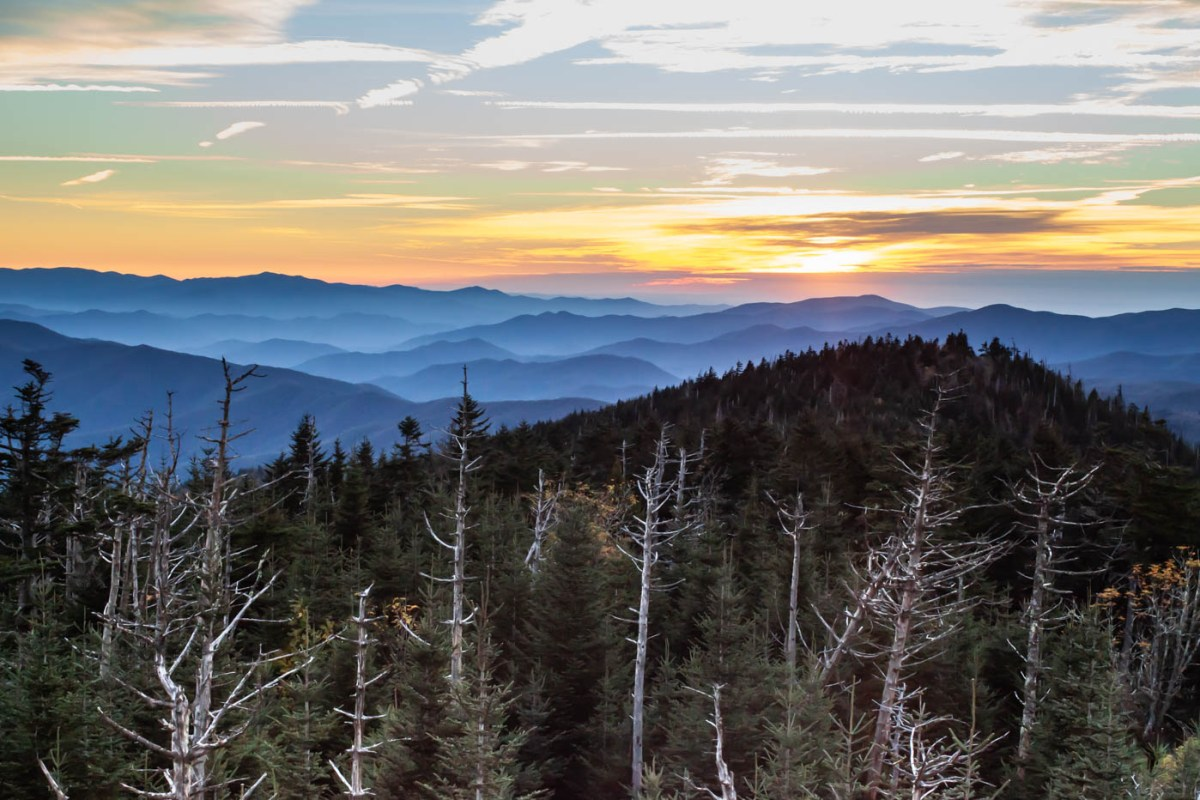 Great Smoky Mountain National Park Sunset at Climgmans Dome #vezzaniphotography