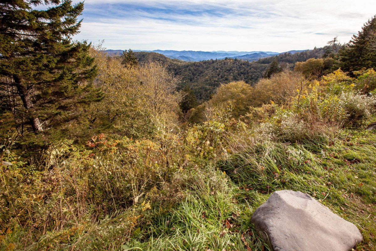 Newfound Gap Overlook off of Newfound Gap Road at Great Smoky Mountains National Park #vezzaniphotography
