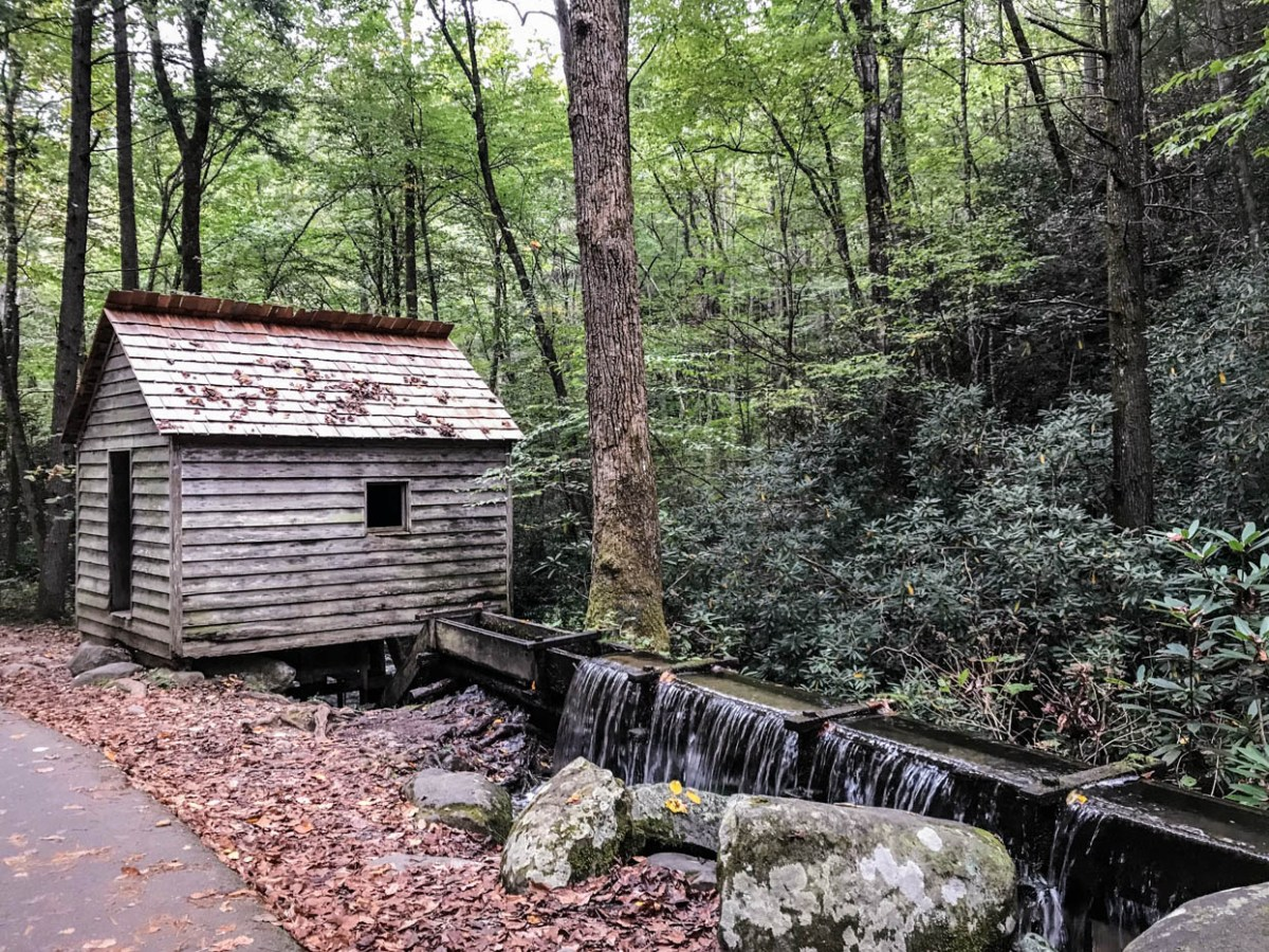Reagan Tub Mill on the Roaring Fork Motor Nature Trail at Great Smoky Mountains National Park #vezzaniphotography