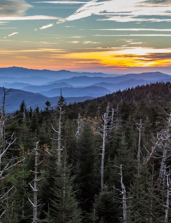 Clingmans Dome Sunset at Great Smoky Mountains National Park