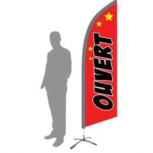 drapeau ouvert rouge