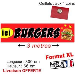 banderole hamburger burgers