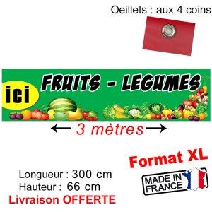banderole fruit légume pas cher
