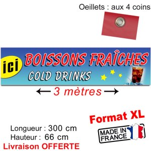 bache banderole boissons fraiches