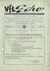 VfL-Echo Januar 1956 Cover