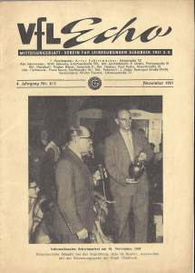 VfL-Echo November 1957 Cover