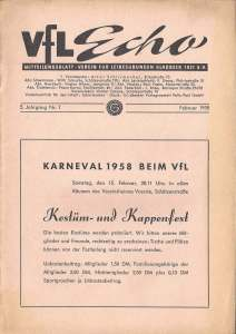 VfL-Echo Februar 1958 Cover