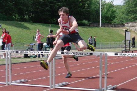 Starker Auftritt: Lars Neuber über 60 m Hürden