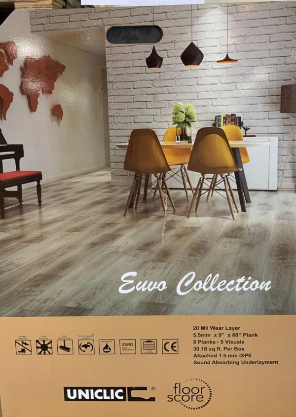 "SPC Flooring Paris color, Euvo Collection 5"" x 9"" x 0.21"
