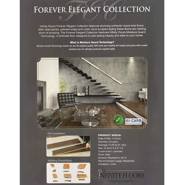 Infinity Floors, Forever Elegant Collection - Laminate Flooring in Kona Maple Color