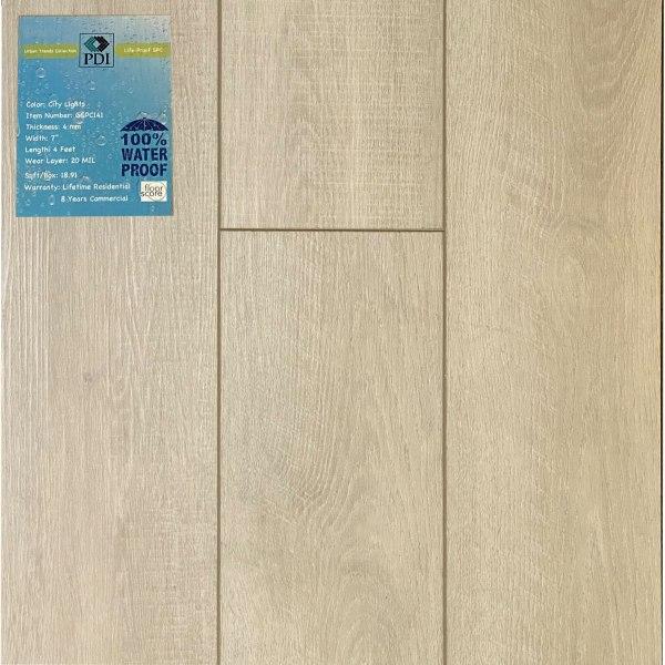 PDI Flooring, Urban Trend Collection, SPC Flooring in City Light |VFO FLooring