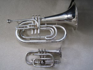 Kanstul Custom Marching Baritone with Baby Brother