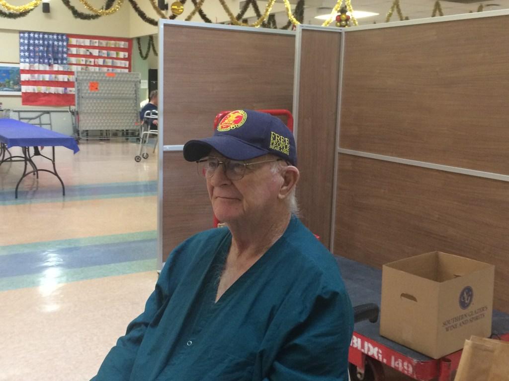 VA CLC Veteran waiting on gift bag
