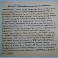 Honoring Richard Fulton Monday Dec 28th 7:00