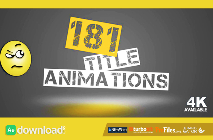 181 Title Animations Free Download After Effects Templates