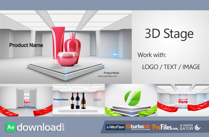 After Effects Template - Short Typo Promo + FREE …