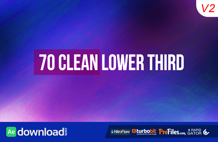 70 Clean Lower Third Free Download After Effects Templates