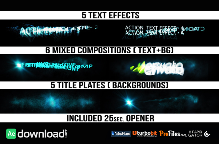 Action Titles Free Download After Effects Templates