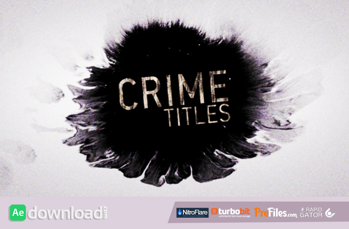 Crime Titles Free Download After Effects Templates