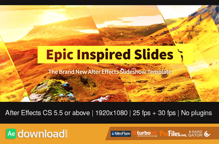 Epic Inspired Slides Free Download After Effects Templates