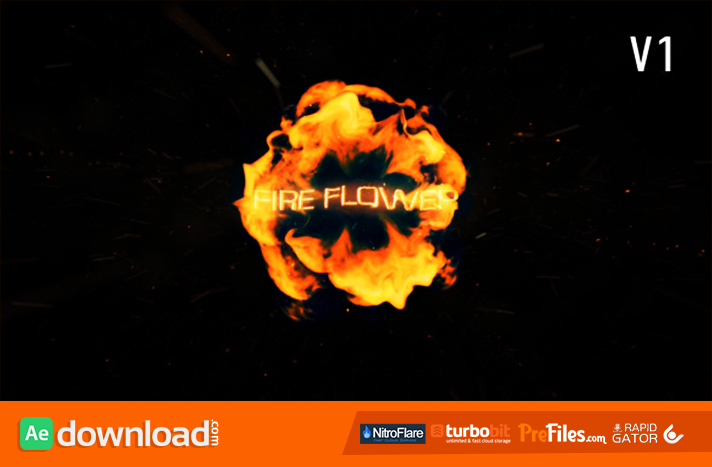 Fire Flower Logo Free Download After Effects Templates