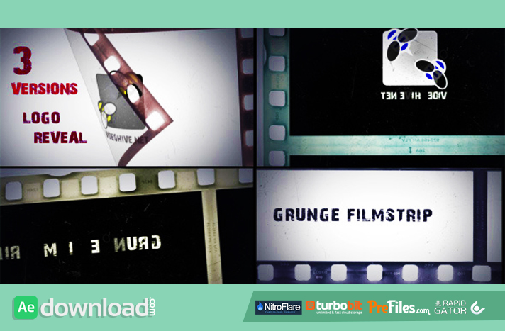 Grunge Filmstrip Free Download After Effects Templates