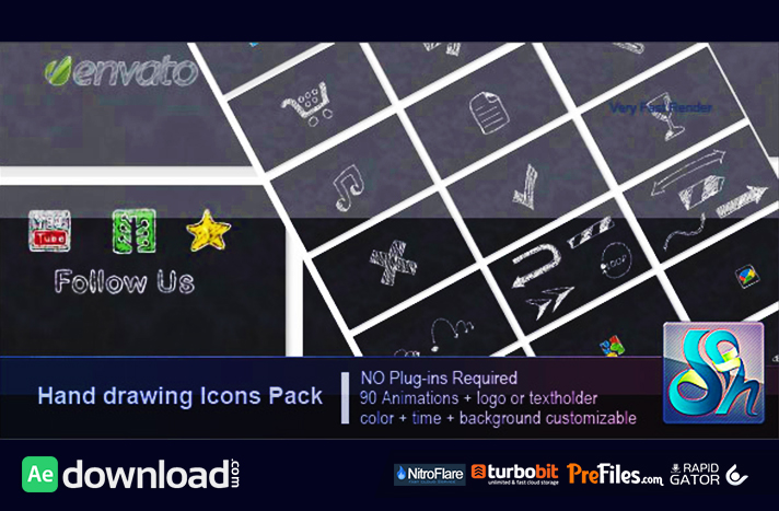 Hand Drawing Pack Free Download After Effects Templates