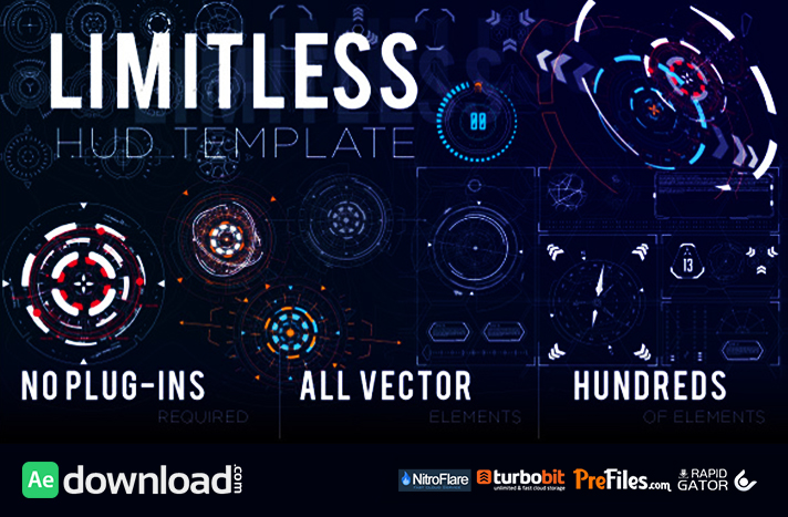 Limitless HUD Template Free Download After Effects Templates
